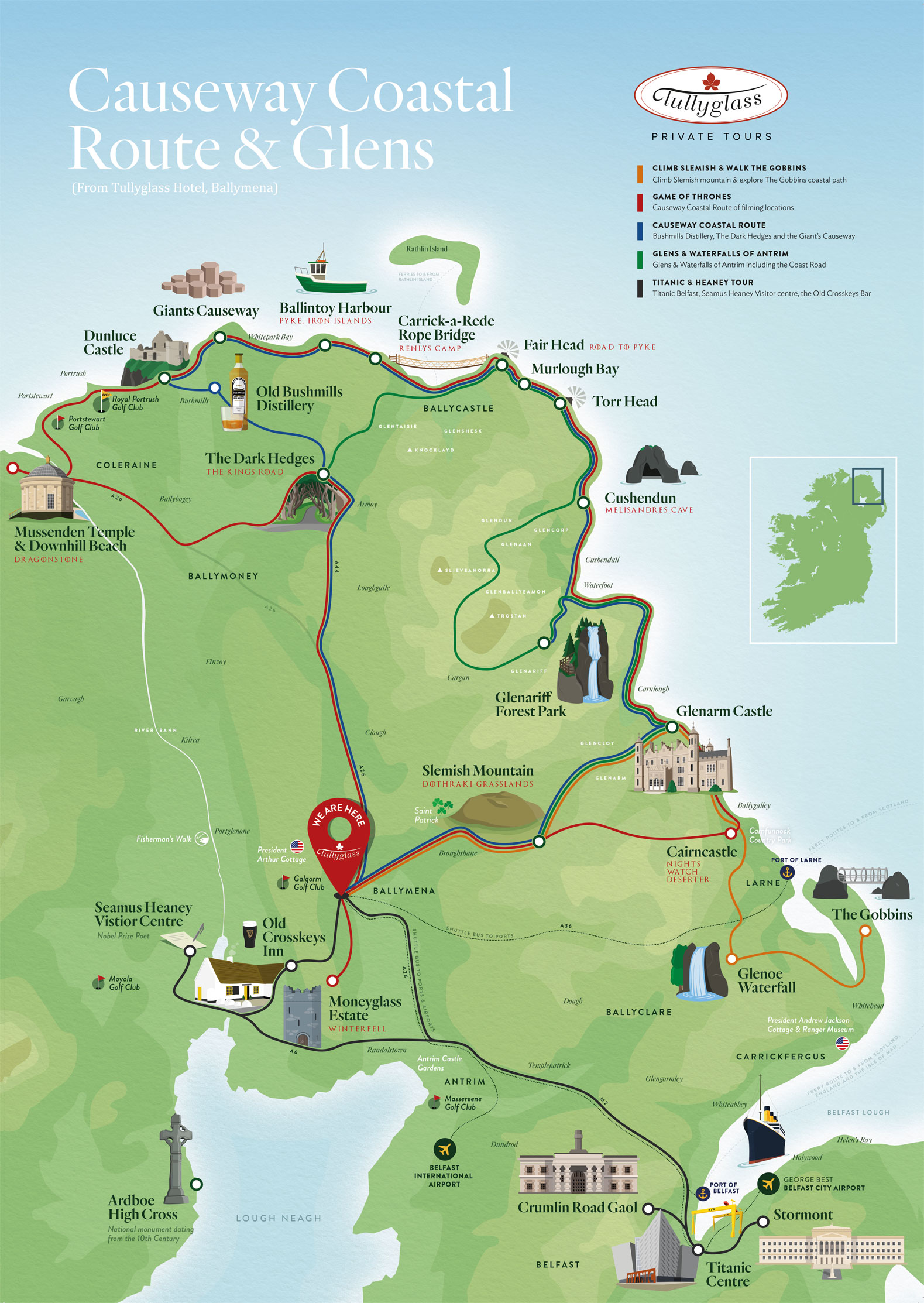 Small Map Of Ireland.Small Tullyglass Map Final Tullyglass Hotel And Residences